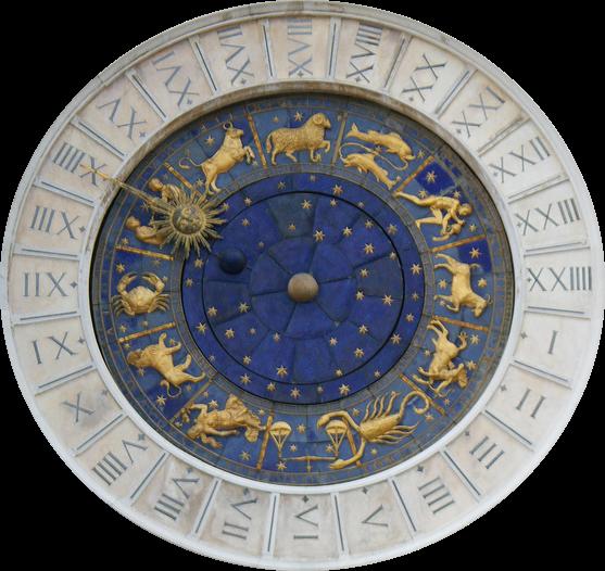 Horloge astro détourée
